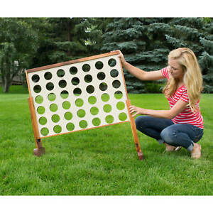 Image Is Loading Large Connect Four Wood 4 Row Outdoor
