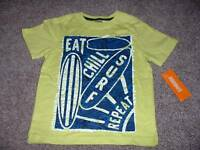 Gymboree Toddler Boys Green Blue Surf Shirt Top Size 3t 3 Summer Clothes