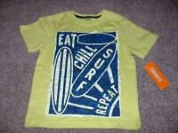 Gymboree Toddler Boys Green Blue Surf Shirt Top Size 3t 3 Summer Clothes