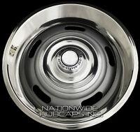 4 Chevy Gm Rally Wheel Disc Brake Center Hub Caps And 15 Trim Rings Beauty Rims
