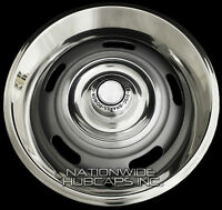 4 Chevy Gm Rally Wheel Disc Brake Center Hub Caps And 15 Trim Rings Beauty Rims