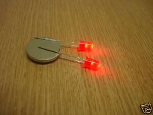 LED X5 HLMP4700 T-1 3//4 RED 45MCD