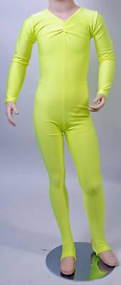 Lycra Catsuit Long Sleeves Gath/'d Bust Flo Colours #HEATHER