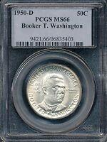 1950-D Booker T. Washington Commemorative Half Dollar PCGS MS66