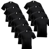 10er Schwarz Fruit of the Loom T-Shirt Shirt V-Neck Shirts V-Ausschnitt