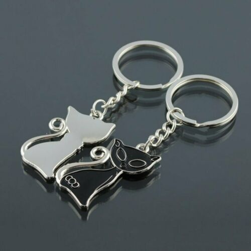 Cute Couple Cat Enamel  Keychain Keyring Bag Ornament Accessories Lovers Gift