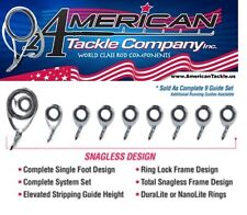 American Tackle MicroWave Tidal Wave Casting Guides- Titanium (NOIMW-SET-C)