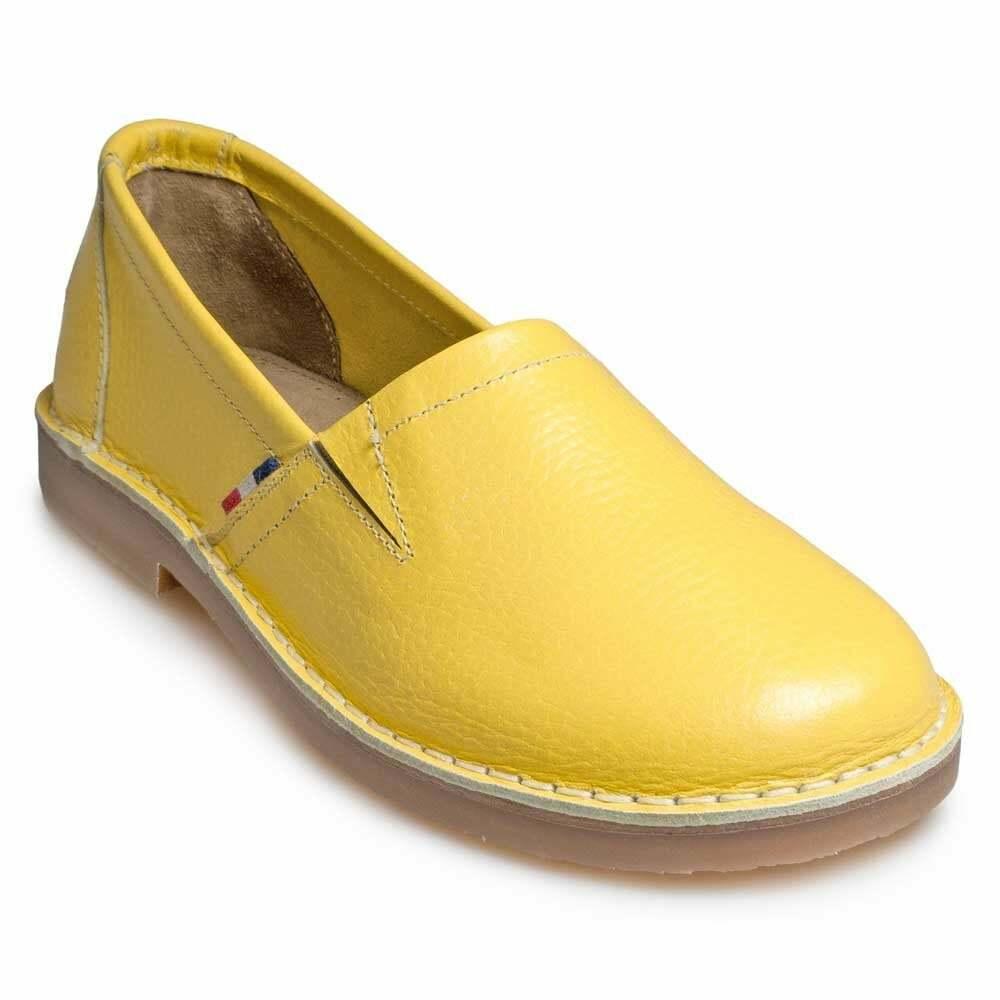 New Women's Retro Pod Heritage Ladies Maisie Lemon Yellow shoes UK Size