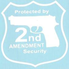 2nd Amendment Security Guns Ammo Car Truck Suv Vinyl Sticker Decal
