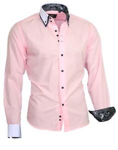 Hemd-Herrenhemd-Doppelkragen-Shirt-Langarm-81721-ROSA