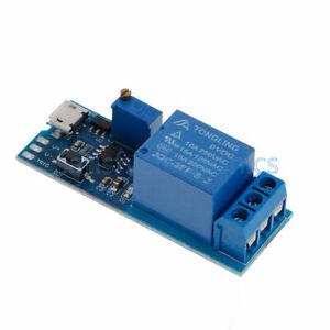 Micro-USB-Power-Delay-relay-Timer-control-module-Trigger-delay-switch-5-30V