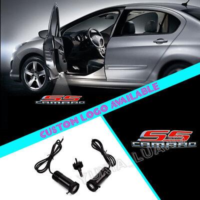 Led Lights For Cars >> 2pcs Camaro Ss Logo Car Door Projector Cree Led Lights For Chevrolet Z28 Zl1 Ebay