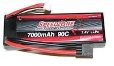 Speedzone 7000 mAh 90C HardCase Lipo Battery 2S 7.4V 1/10 Traxxas Stampede 4x4