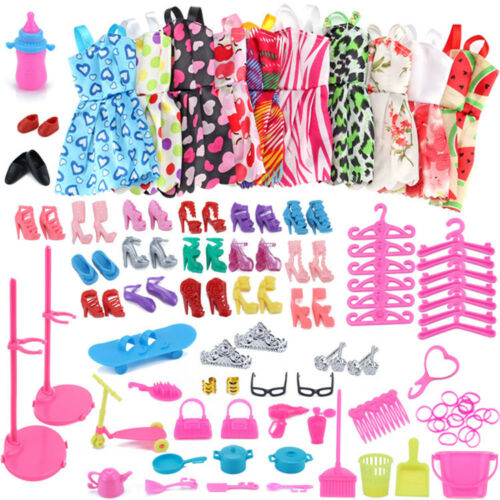 Barbi Dress Up Clothes Lot Cheap Handmade Clothing Doll Accessories