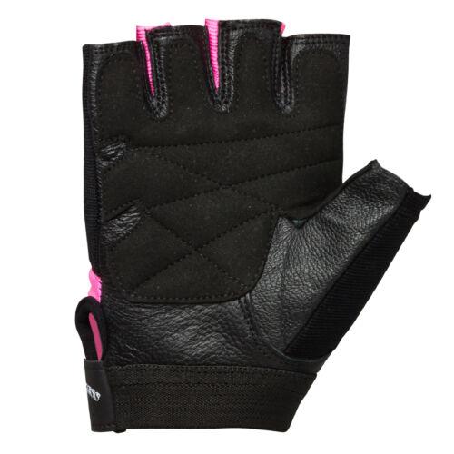 Fettmesszange Damen Trainingshandschuhe Fitnesshandschuhe Leder XS-L PINK LADY