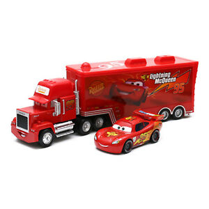 Disney-Pixar-Cars-2-Lightning-McQueen-NO-95-Mack-Truck-1-55-Diecast-Toy-Loose