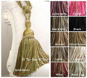 Pair Of Hb161 Interlude Large Luxury Rope Tassel Curtain Tie Backs