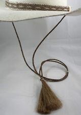Stay-put Cowboy hat horsehair stampede string-hat string cotter pin sorrel-brown