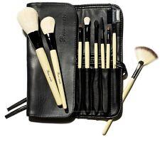 Beau-Make Natural White Goat Professional 9 Piece Long Makeup Brush Wrap Set