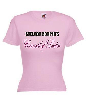 SHELDON COOPER'S COUNCIL OF LADIES T-SHIRT Women's Pink Big Bang Theory Funny