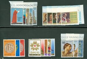 Vatican-City-1970-Compete-MNH-Year-Set