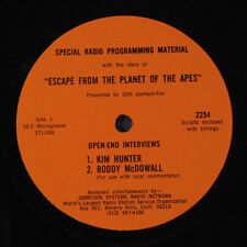 """SOUNDTRACK: Escape From The Planet Of The Apes Interview Record LP (10"""", w/ cue"""