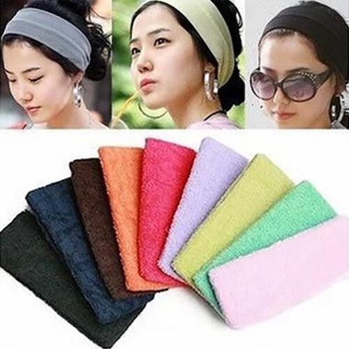 Unisex Sports Yoga Sweatband Cotton Stretch Headband Hair Band Headwear Gift