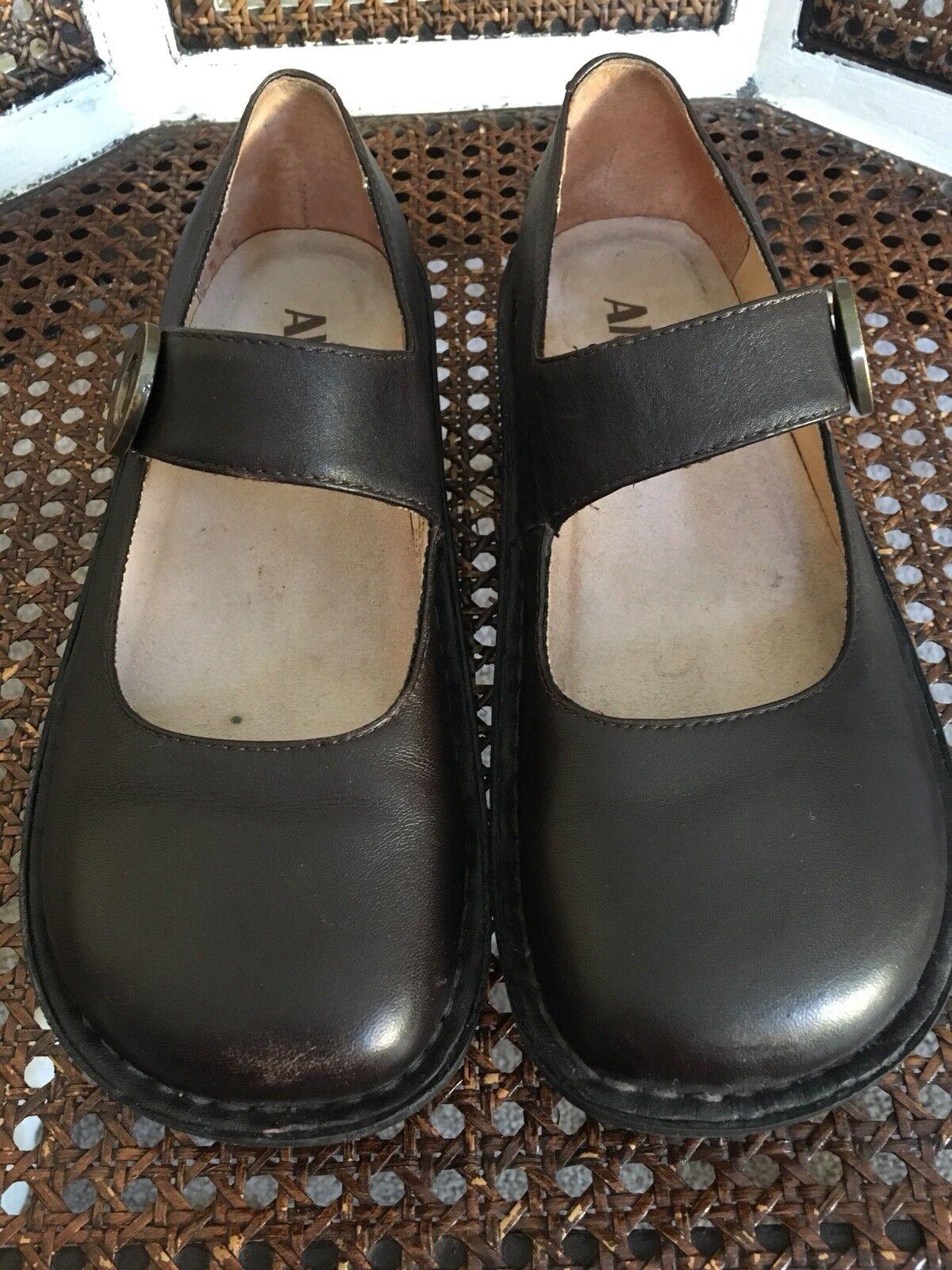 37 37 37 Alegria Paloma 602 Marrón Cuero Mary Jane Zapatos  tienda de descuento
