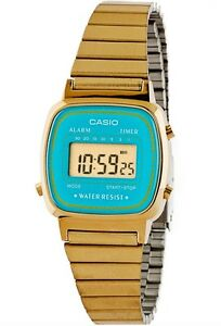 Casio-Watch-LA670WGA-2-Retro-Mini-Aqua-Face-Gold-Slim-Steel-COD-PayPal