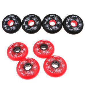 8-Pcs-Inline-Roller-Hockey-Skate-Replacement-Wheel-Elastic-84A-76mm-80mm
