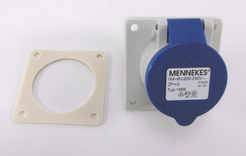 Mennekes anbaudose twincontact 16 a 6 h3 broches200-250 V ~ip44Type 1668