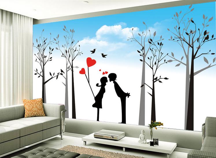 3D Romantische Paarart 932 Tapete Wandgemälde Tapete Tapeten Bild Familie DE