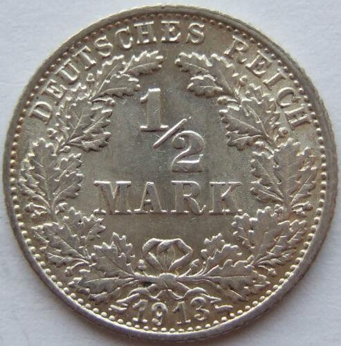 TOP! 1/2 Mark 1913 F in BRILLIANT UNCIRCULATED / BRILLIANT UNCIRCULATED RARE