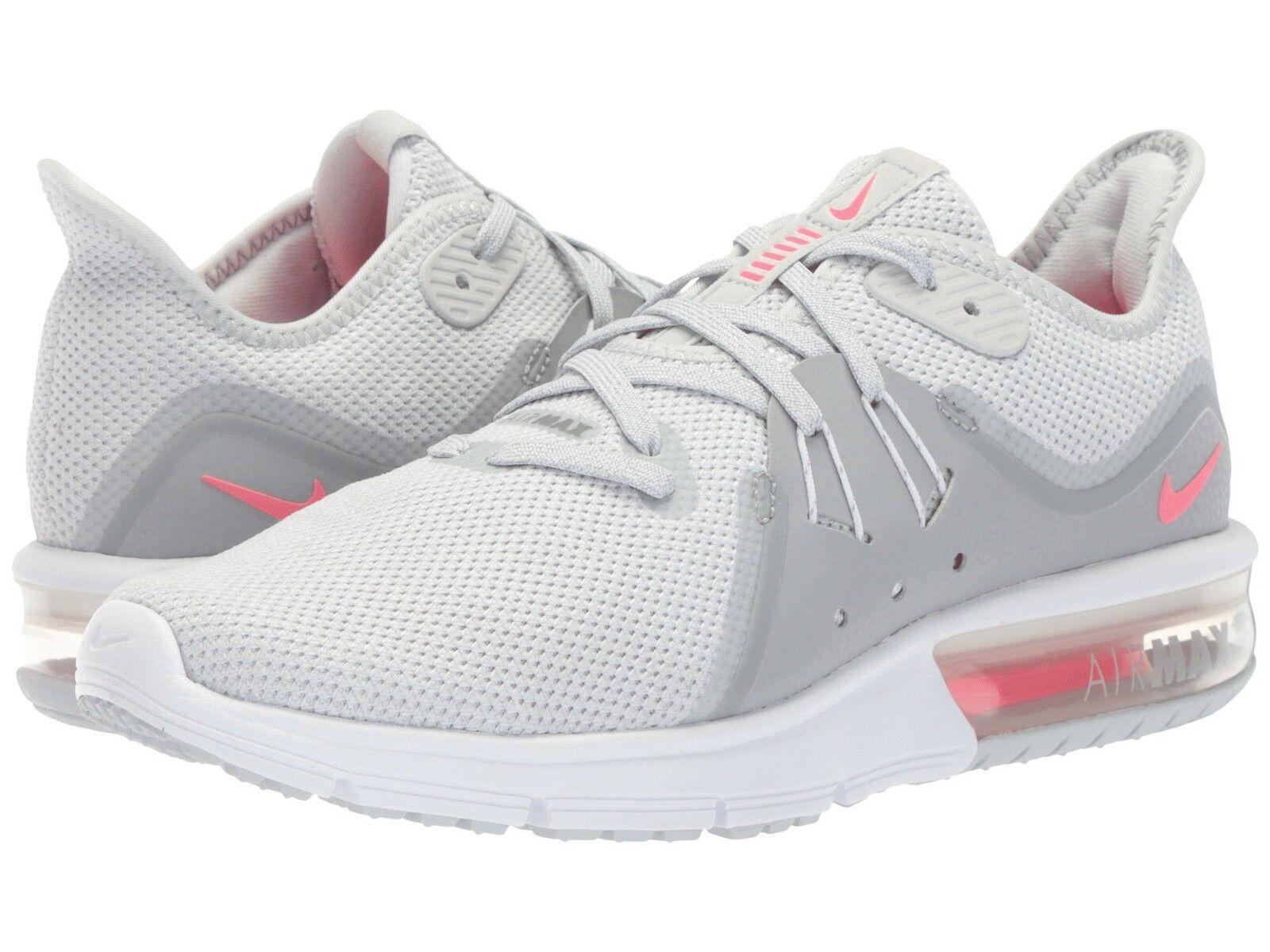 908993-012 Para Mujer Nike Air Max Tallas Sequent 3 gris rosado-Platinum Tallas Max 6-10 Nuevo En Caja 85afea