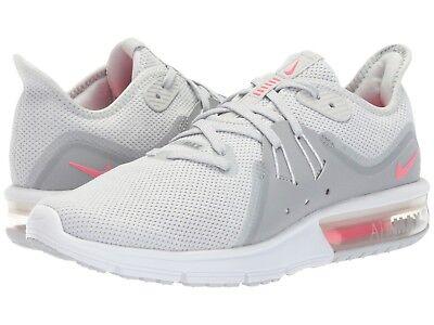 908993-012 Para Mujer Nike Air Max Sequent 3 Gris/Rosa-Platinum Tallas 6-10  Nuevo En Caja | eBay