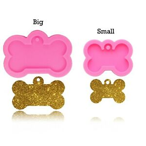 Dog Bone Mold DIY Pendant Keychain Jewelry Making Silicone Mould Clay Crafts