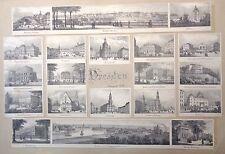 Ansichten Dresden Deutschland 20 lithographie XIX sec und groß ansicht Bastei