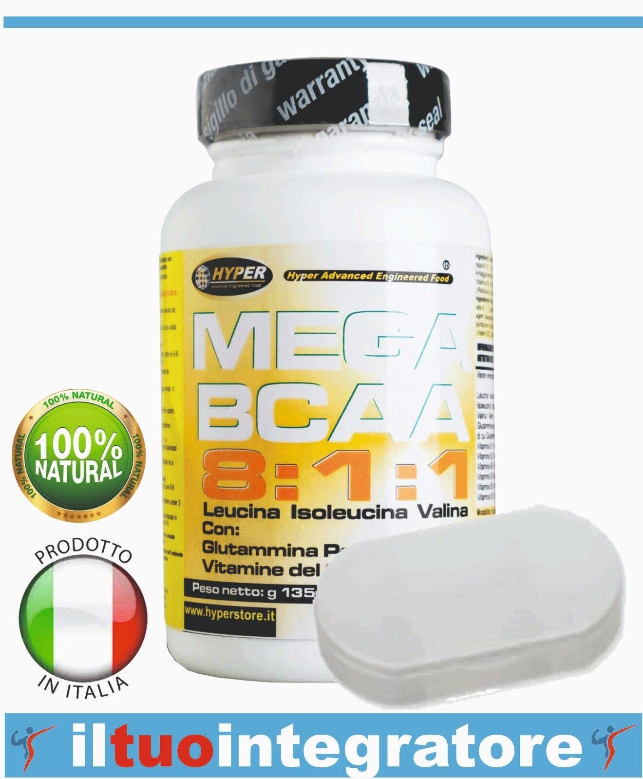 BCAA 8:1:1 verzweigtkettige Aminosäuren 600 600 600 Tabletten + p/Pillen Glutamin 6bd740