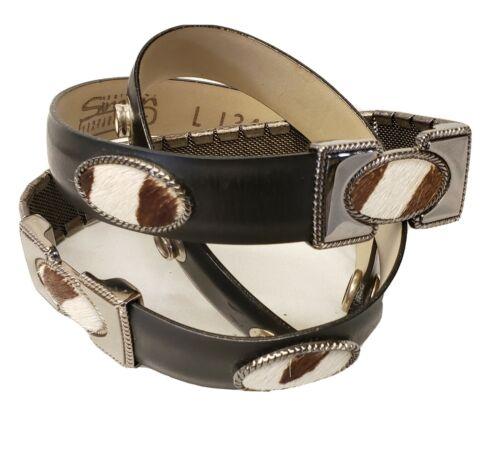 BB Simon Bronze Leather Belt Womens Cow Hide Accen