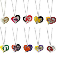 NWT NCAA Pick your Teams Swirl Heart Necklace - Official Licensed