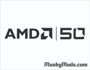 AMD-50-50th-Anniversary-PC-Case-Window-Applique-Vinyl-Decal-Color-Choices