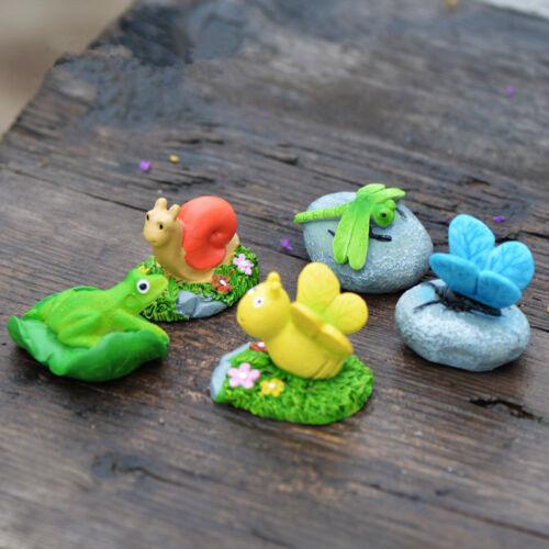 Mini Stone With Animal Miniatures Figurine Bonsai Garden Lawn Ornament Decor DIY
