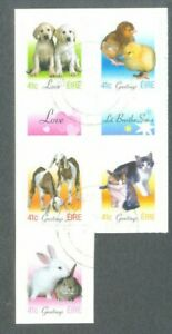 Diligent Irlande-baby Animals-pets Greetings Set Fine Used 2003-1565/69