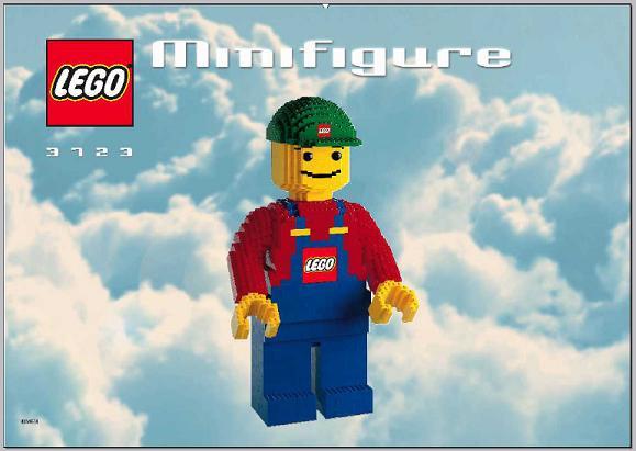 Lego Minifigure 3723 Instruction Only