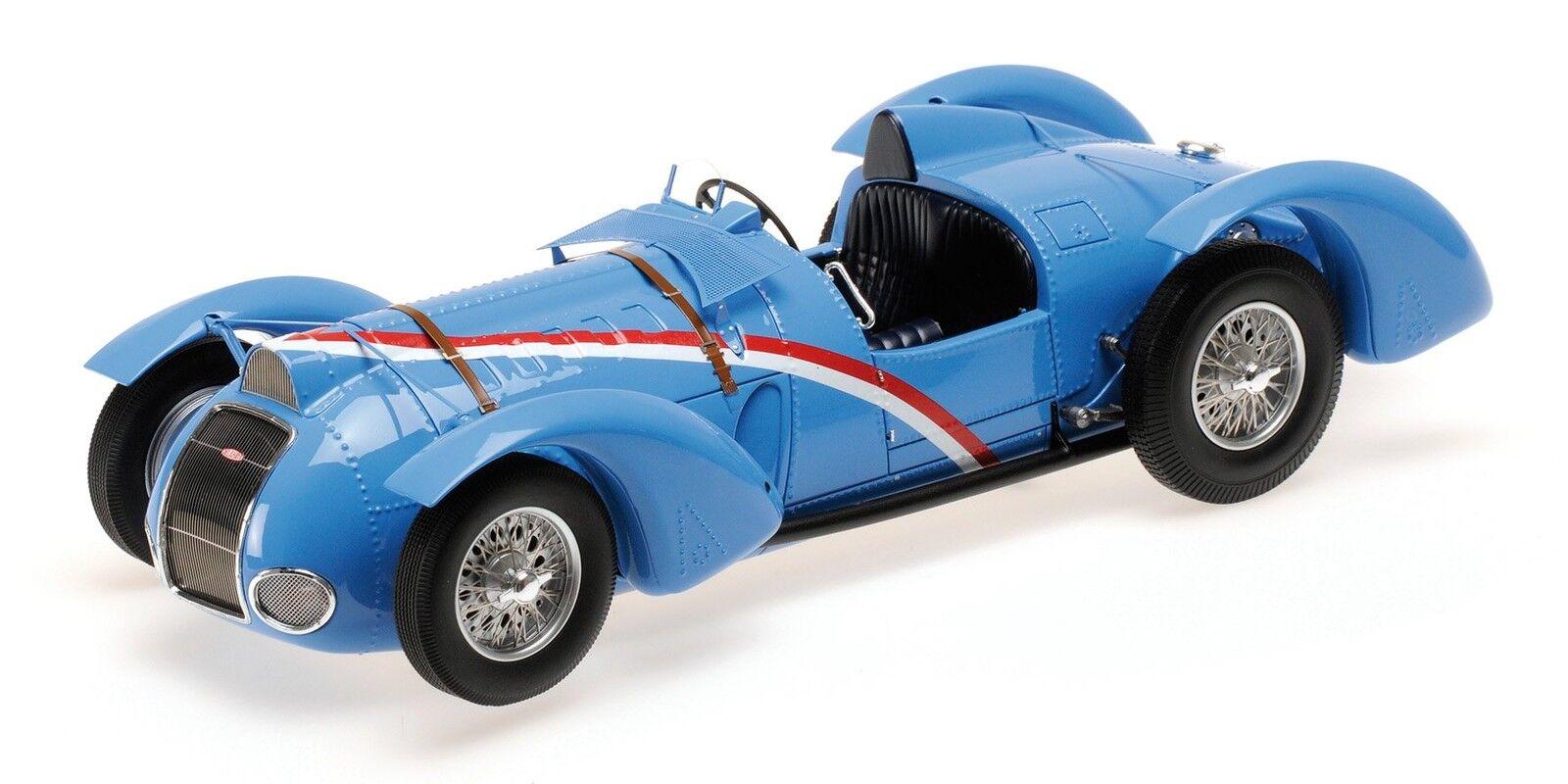 Delahaye Type 145 V-12 Grand Prix 1937 bleu 1 18 Model 107116100 MINICHAMPS