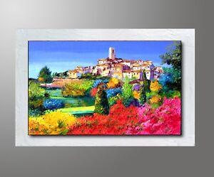 Dettagli su QUADRI MODERNI paesaggio toscana olio su tela DIPINTI A MANO  dipinto italiano