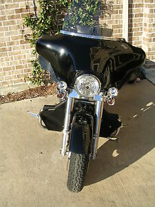 HARLEY-TOURING-FLH-FLX-MUSTACHE-ENGINE-GUARD-SOFT-LOWERS-1-QUALITY-amp-WARRANTY