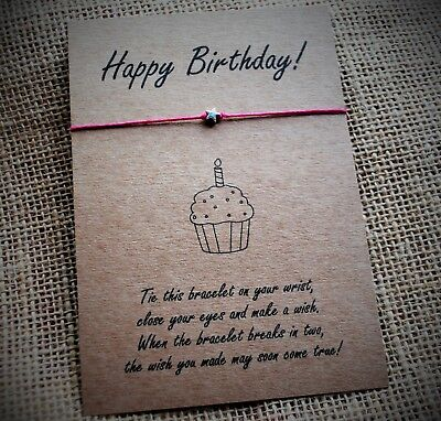 Sensational Happy Birthday Wish Bracelet Birthday Gift Card Best Friends Funny Birthday Cards Online Fluifree Goldxyz
