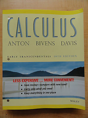 CALCULUS Early Transcendentals 10th Edition By Anton