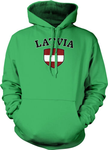 Latvia Flag Crest Latvian Latvija National Country Pride Hoodie Pullover